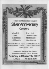 2002 Silver Anniversary Concert programme cover