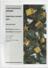 2009 Christmas Programme Cover