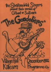 1982 Christmas - the Gondoliers Programme Cover