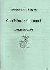 2006 Christmas Programme Cover