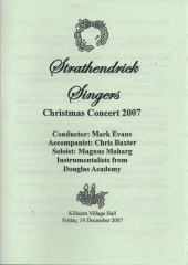 2007 Christmas Programme Cover