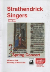 2009 Spring Concert Programme Cover