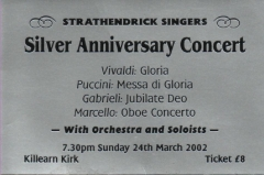 Silver Anniversary Ticket