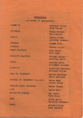1982 Christmas - the Gondoliers - Cast 1