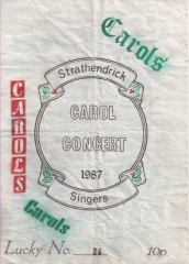 1987 Christmas Concert Programme Cover